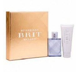 BURBERRY BRIT SPLASH COFFRET EDT 50ML+S/G 75ML