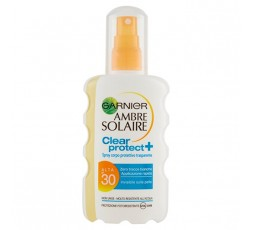 GARNIER AMBRE SOLAIRE CLEAR PROTECT FP.30 SPRAY TRASPARENTE 200 ML