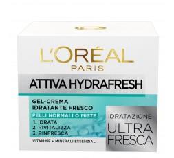 L'Oreal CREMA VISOATTIVA HYDRA FRESH PELLI SECCHE O SENSIBILI 50 ML.