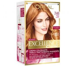 Excellence Creme Crema Colorante 7.43 Biondo Rame Dorato