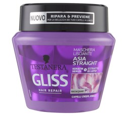 Testanera Gliss Hair Repair Maschera Lisciante Asia Straight 300 ml