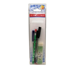 Kartal Kit 3 Penne + 1 Matita a Mine + 1 Gomma