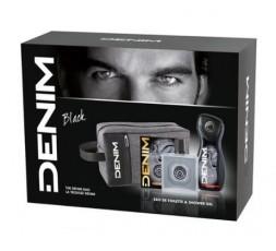 Denim conf. Black Edt 100 ml + Shower Gel 250ml + Borsello