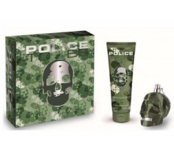 POLICE TO BE CAMOUFLAGE FOR MAN COFFRET EDT 75ML+S/G 100ML