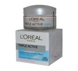 L'Oreal CREMA VISO TRIPLE ACTIVE FRESH GEL 50 ml.