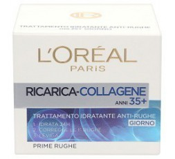 L`Oreal Paris crema idratante attiva anti rughe 35+ al collagene giorno 50 ml.
