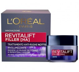 L'Oreal Paris Revitalift filler [ha] trattamento anti-rughe notte 50 ml.