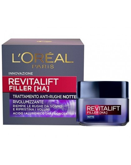 L'Oreal Paris Revitalift filler [ha] trattamento anti-rughe notte 50 ml
