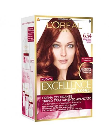 Excellence Creme Crema Colorante 6.54 Biondo Scuro Mogano Ramato