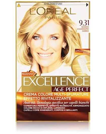Excellence Age Perfect Tintura Per Capelli 931 Biondo Chiarissimo Sabbia
