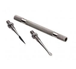 Ipam Schiacciamomedoni Professionale inox 2 usi svitabile – anello e punta lancia svitabili, in busta