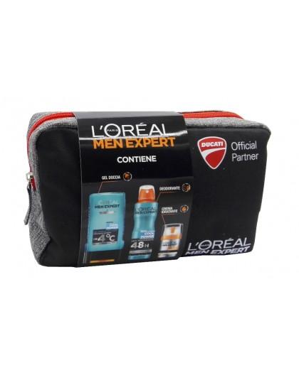 L'oreal conf. Men Expert schiuma da barba 200ml + crema viso 50ml + deo roll on xxl 50ml