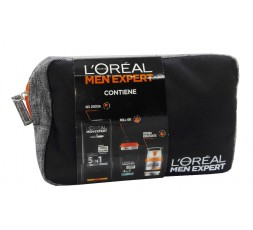 L'oreal conf. Men Expert schiuma da barba 200ml + crema viso 50ml + deo roll on xxl 50ml