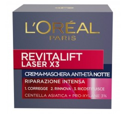 L'Oreal Re Vitalift Laser X3 Notte 50 ml.