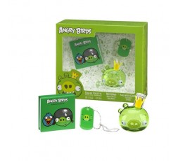 Angry Birds Pig edt. per bambini 50 ml Spray & B.note & Ciondolo Cofanetto