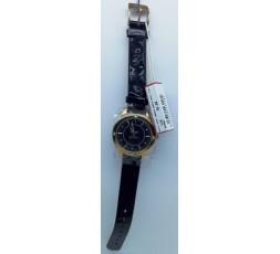 Miss Sixty Orologio WM2 N8004 Radio Star 2 Hands Quadrante Black Cinturino Nero Cassa Oro