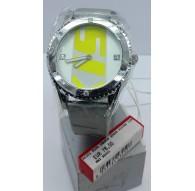 Miss Sixty Orologio R5001 fluo 2 Hands Quadrante Silver Cinturino Argento